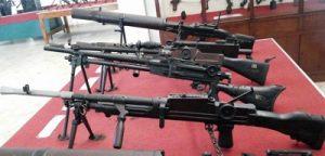 senjata hasil rampasan Peta di museum brawijaya